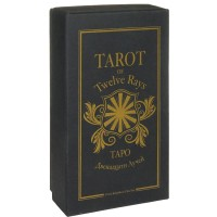 Tarot of the Twelve Rays Deluxe version in a cardboard box